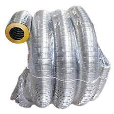TUBO FLESSIBILE INOX LISCIO PRECOIBENTATO CANNA FUMARIA DIAMETRO da 80 a 180