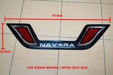 BLACK TAIL GATE DRESS KIT REFLECTORS COVER TRIM FOR NISSAN NAVARA/NP300 2014-16