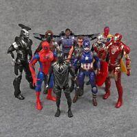 Marvel Legends Captain America 3 Civil War Iron Man Action Figures Toys 10pcs
