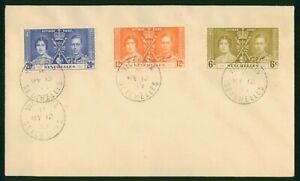Mayfairstamps Seychelles 1937 Coronation Set Combo first Day Cover wwp79775
