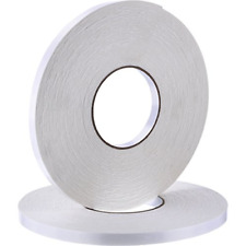 2 Rolls Double Sided Foam Tape White PE Foam Tape Sponge Soft Mounting Adhesive
