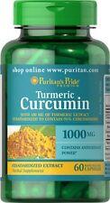 Turmeric Curcumin 1000 mg x 60 Capsules Puritan's Pride  ** AMAZING PRICE **