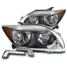 FOR 05-07 SCION TC BLACK/AMBER REPLACEMENT HEADLIGHTS HEADLAMPS W/LED DRL SIGNAL