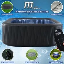 Heated Inflatable Hot Tub Jacuzzi Spa Square Outdoor Portable 4-6 Person Seater