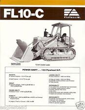 Equipment Brochure - Fiat-Allis - Fl10-C - Crawler Loader (E1565)