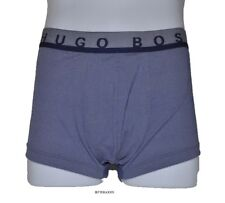 HUGO BOSS men's UNDERWEAR Stretch BOXER BRIEFS Pepper/Salt Denim Blue LARGE nwt