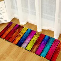1-Non-Slip Kitchen Floor Mat Machine Washable Rug Door Large Runner Striped Rugs