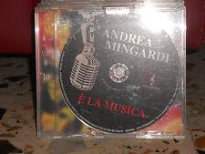 ANDREA MINGARDI - E' LA MUSICA - cd singolo slim case PROMOZIONALE 2004