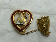 Vintage Heart Shaped Pin Women of the Moose lodge Loyal Order of the Moose