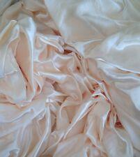 17 Mètres Crème Satin Rideau & robe tissu parfait pour mariage décoration