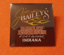HARLEY DAVIDSON DEALER PIN JIM BAILEYS DEFUNCT DEALERSHIP FORT WAYNE INDIANA