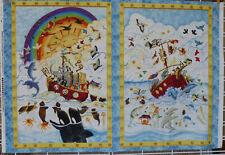 Rainy Days Fabric Panel Noah's Ark South Sea Imports 100% Cotton Nursery Project