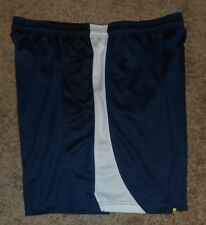 Men's basketball style shorts by Tek Gear, Medium Blue with white trim, Size XL