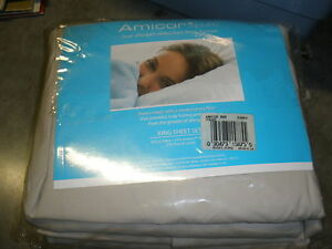 NEW Amicor King size sheet set true allergen reduction from Europe 4 pieces tan