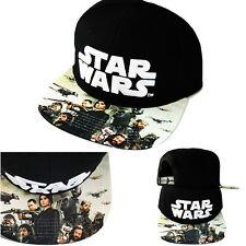 Star Wars Black Cartoon Snapback Hat movie Character printed Visor Flat Bill Cap