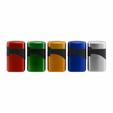 ACCENDINO LIGHTER ATOMIC TURBO JET FLAME RICARICABILE ANTIVENTO METAL COLOR