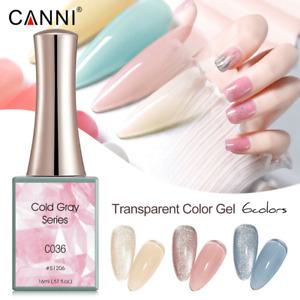 CANNI UV Nail Gel Polish COLD GRAY SERIES Shimmer Varnish Soak Off LED 16ML