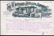 1897 Worcester Whitcomb Envelope Co  M F Dickinson History J Sherman Letter Head
