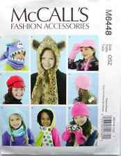 Reduced!!  McCall's 6448 Girls' Hats, Cowl and Mittens Pattern