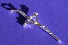 """2"""" silver special Holy Relic CROSS touched to the True Cross in Jerusalem ISRAEL"""
