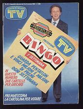 SORRISI 41/1986 BIM BUM BAM CARRA' PAOLI TOP GUN FILM TOM CRUISE KELLY McGILLIS