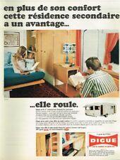 F- Publicité Advertising 1969 Camping Caravane Digue