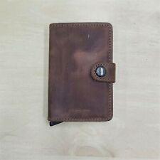 Secrid Mini Wallet Genuine Leather Vintage Brown RFID Safe Card Case 12 Cards
