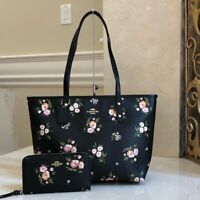 NWT COACH SIGNATURE CITY ZIP TOSSED DAISY FLORAL HANDBAG+WALLET VARIOUS OPTIONS