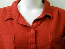 MIB 3X Red Button Down Camp Shirt 100% Cotton USA Long Sleeves 2 Pockets
