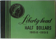 Meghrig Empty Liberty Head Half Dollars 50c Green Album G-13 1892 O - 1905 S