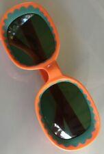 Vintage 60's Pop Art Hippie Orange and Turquoise Sunglasses - Italy