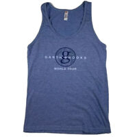 Garth Brooks World Tour Tank Top Shirt Womens Size Small American Apparel Blue