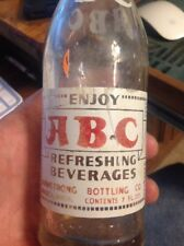 abc WASECA MINNESOTA ACL SODA BOTTLE ARMSTRONG BOTTLING 1940's