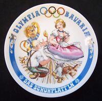 Orig.Porzellanteller  Olympische Spiele MÜNCHEN 1972 - Bayrische Disziplin E  !!