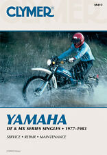 CLYMER Repair Manual for Yamaha DT100, DT125, DT175, DT250, DT400, MX100, MX175