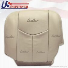 2005 Chevy Tahoe Driver Bottom Leather Seat Cover Tan with Power Controls Option