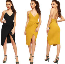 Polyester Regular Size Dresses for Women with Slit