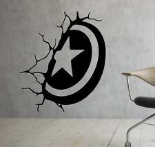Captain America Shield Wall Decal Marvel Comics Vinyl Sticker Superhero (4cp7t)