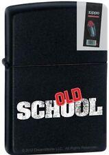 Zippo 9231 old school movie black matte Lighter + FLINT PACK