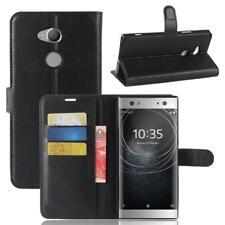 Funda para el Sony Xperia XA2 Ultra Libro Cover Wallet Case-s bolsa Negro