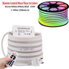 1-100m Neon LED Strip Stripe Streifen Leiste 230V Wasserdicht Schlauch dimmbar
