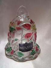 "Mikasa Celebrations Christmas Pointsettia 5"" Bell  - SA 150/922 NIB Mint Cond."