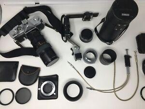 KONICA AUTOREFLEX T 80-200mm Adapters, Flash Holder,  MORE