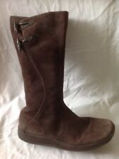 Clarks Brown Mid Calf Leather Boots Size 7D