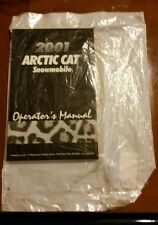 New, Sealed, OEM Arctic Cat 2001 Snowmobile Operator's Manual NOS Printed In USA