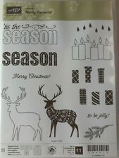 Stampin' Up Merry Patterns - Christmas candles, deer in holiday sweater - NEW