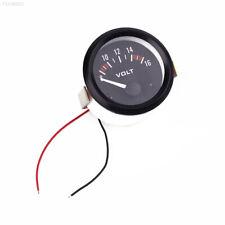E5B7 52mm Car Digital DC 8-16V LED Panel Voltmeter Volt Voltage Gauge Pointer