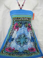 NWT AQUA Smocked Sun Dress STtretcHY Sundress Women's Size XL X-Large 13 14 New
