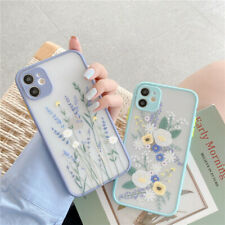 For iPhone 11/Pro/Max SE 2020 XS XR Flower Shockproof Case Clear Silicone Cover
