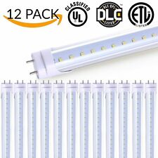 Sunco 12 pack T8 LED Tube Light 4ft 18W (Clear) 5000K Daylight 2,000 Lumens